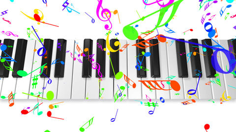Music keyboard 4b Animation
