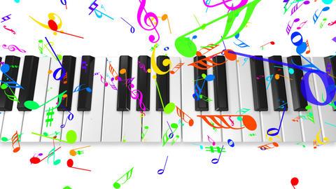 Music keyboard 4b CG動画
