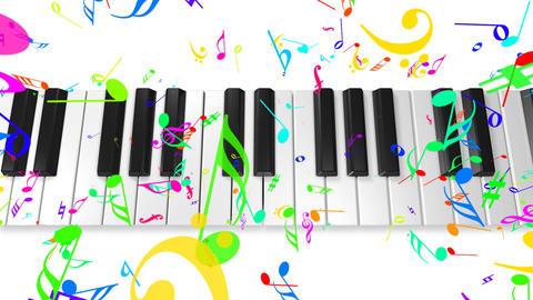 Music keyboard 4b Stock Video Footage