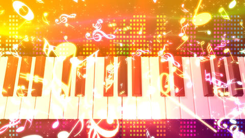 Music keyboard 4d Stock Video Footage