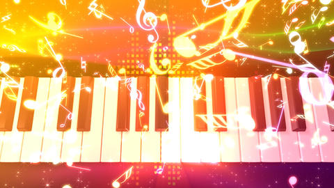Music keyboard 4d Animation