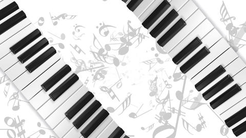 Music keyboard 5a Animation