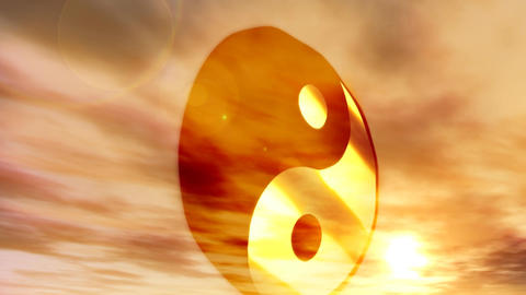 1183 Yin Yang Buddist Philosophy Symbol Animation