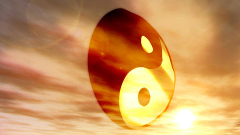 1183 Yin Yang Buddist Philosophy Symbol Stock Video Footage
