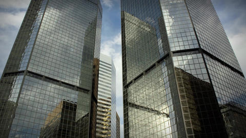 1185 City Skyscrapers Urban Buildings Architecture... Stock Video Footage