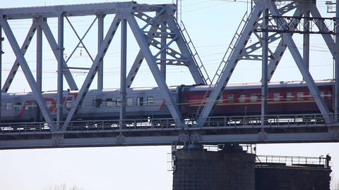 Railway bridge Stock Video Footage
