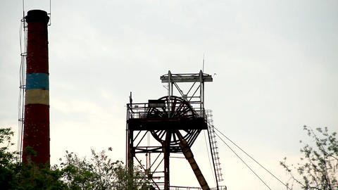 Mine tower Stock Video Footage