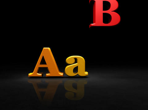 Falling Letters sign. Alphabet Stock Video Footage