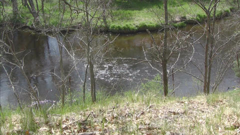 River water flowing Stock Video Footage