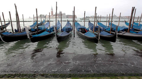 View On Gondola And Channel With Traffic stock footage