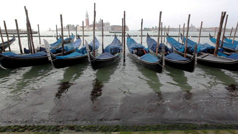 View on Gondola and channel with traffic Stock Video Footage