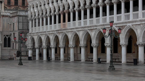 Morning on San Marco square Footage