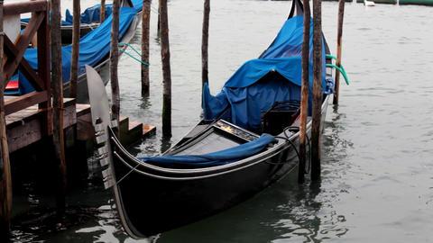 Gondola detail - prow Stock Video Footage