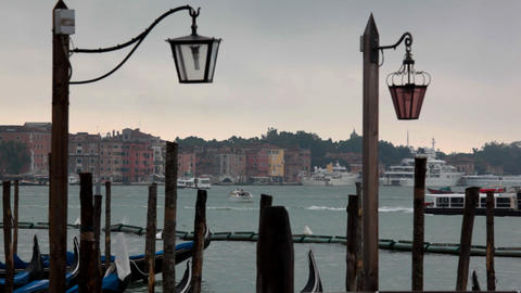 view on channel from San Marco square Stock Video Footage