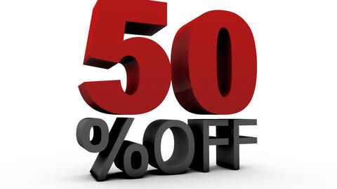 Fifty Percent Off (50%off) Animation