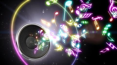 Music Notes Jet A S4 Stock Video Footage