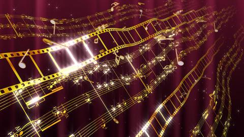 Music Score Wave C1 Stock Video Footage