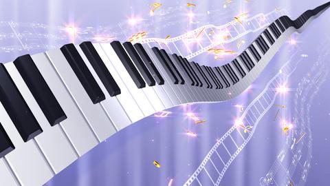 Music Score Wave C3 Stock Video Footage