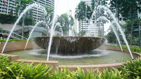 Kuala Lumpur fountain Stock Video Footage