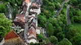 Garden And Town In Rocamadour, France stock footage