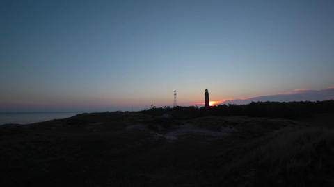 Lighthouse At Sunrise stock footage