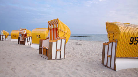 Beach Chairs stock footage