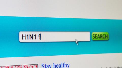 H1N1 flu information concept Animation