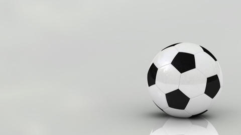 Rotating soccer ball Animation