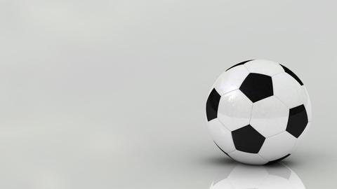 Rotating soccer ball Animation