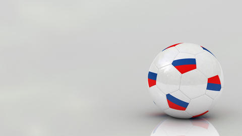 Russian soccer ball Animation