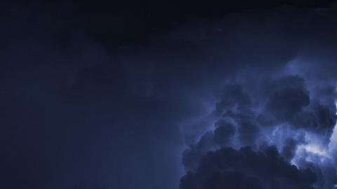 Time lapse of severe thunderstorm in Miami Footage