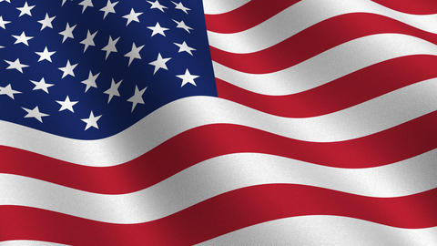 USA flag waving in the wind seamless loop Animation
