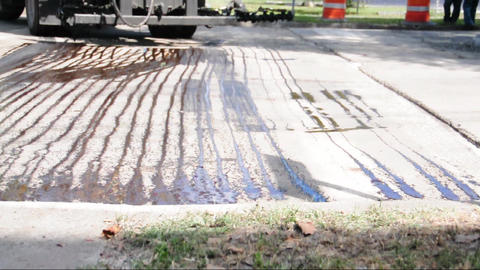 Road construction surface preparation Footage