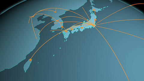Global Network from Tokyo 2 Stock Video Footage