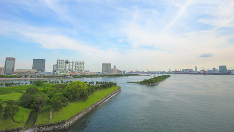 Timelapse From Odaiba,in Tokyo,Japan stock footage