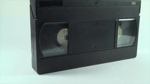 Video Tape Isolated On White, Vintage, Media, Retr Footage