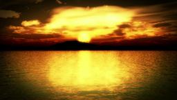Island Sunrise Color Graded Stock Footage Animation