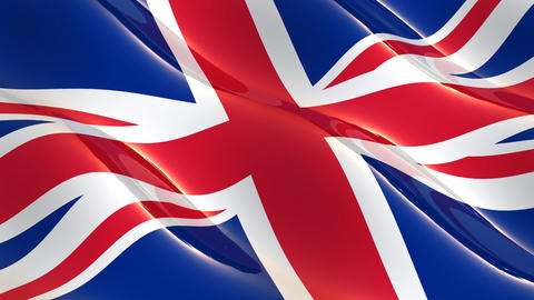 UK flag waving seamless loop Animation