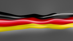 Abstract flowing flag. Germany Animation