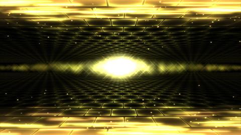 Sideways Travel Light Animation - Loop Yellow Animation