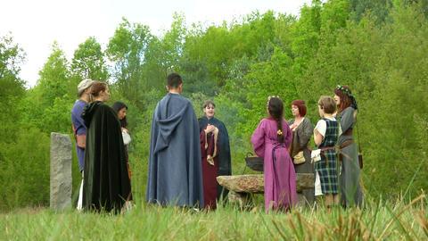 druidic ritual 01 Footage