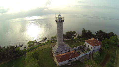 AERIAL: Lighthouse Footage