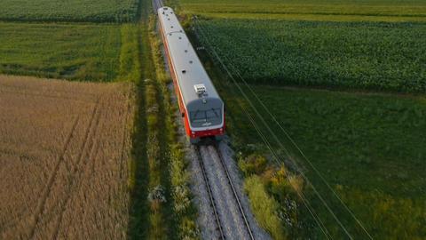 AERIAL: High speed train train Footage