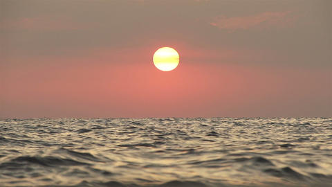 SLOW MOTION: Sunset at the seaside Footage