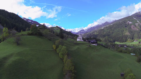 AERIAL: Beautiful countryside in Austria Footage