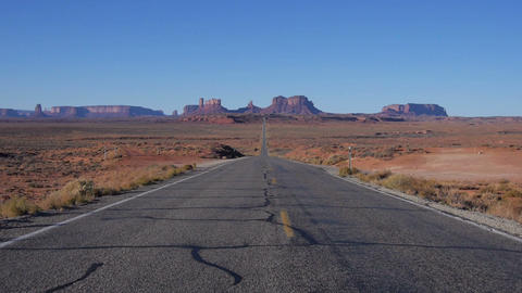 Driving away from Monument valley Footage
