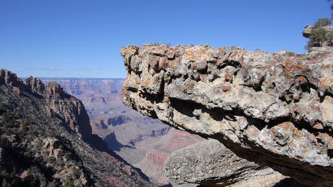 AERIAL: Flying over the rocks of Grand canyon Footage