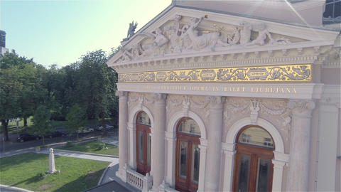 AERIAL: Flying Over The Opera stock footage
