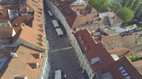 AERIAL: Above the streets Footage
