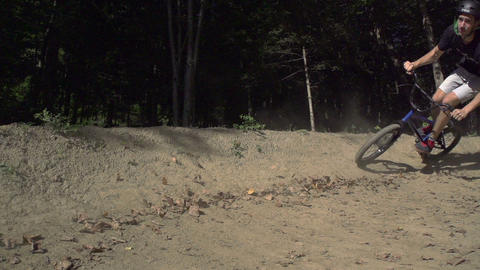 SLOW MOTION: Bmx bikers riding Footage
